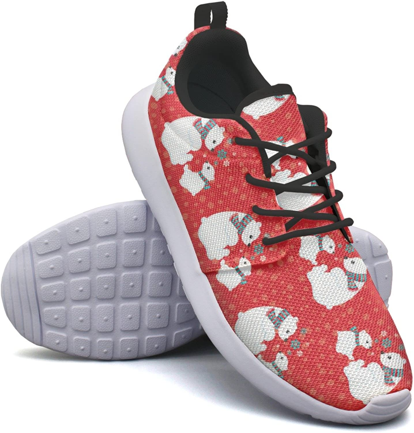 Christmas Red Cute Polar Bears Woman's Cool Casual Running shoes Hunting colorful
