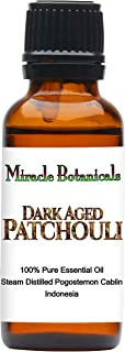 Miracle Botanicals Premium Dark Aged Patchouli Essential Oil - 100% Pure Pogostemon Cablin - Therapeutic Grade 30ml