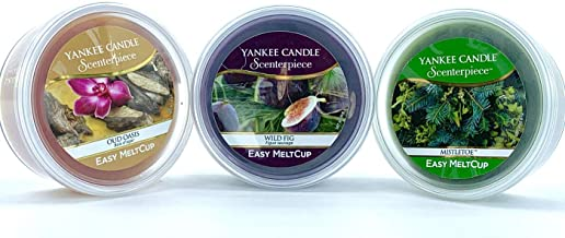 YANKEE CANDLE 3 x Assortito Scenterpiece Easy MeltCups Oud Oasis, Wild Fig & Mistletoe