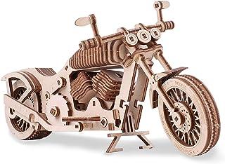 GuDoQi Rompecabezas de Madera 3D Cortado con Láser, Motocicleta Autopropulsada, Modelo Mecánico para Construir, Kit de Artesanía, Juguete de Montaje de Bricolaje para Adolescentes y Adultos