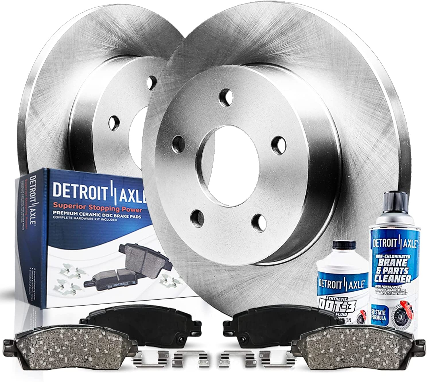 Detroit Axle - Pair 2 Rear Disc Popular shop is the lowest price challenge Kit w Pad Ceramic Brake Rotors Max 73% OFF