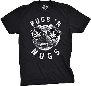 Mens Pugs N Nugs T Shirt Funny Pot Smoking Tee Weed Lover Stoner Gift