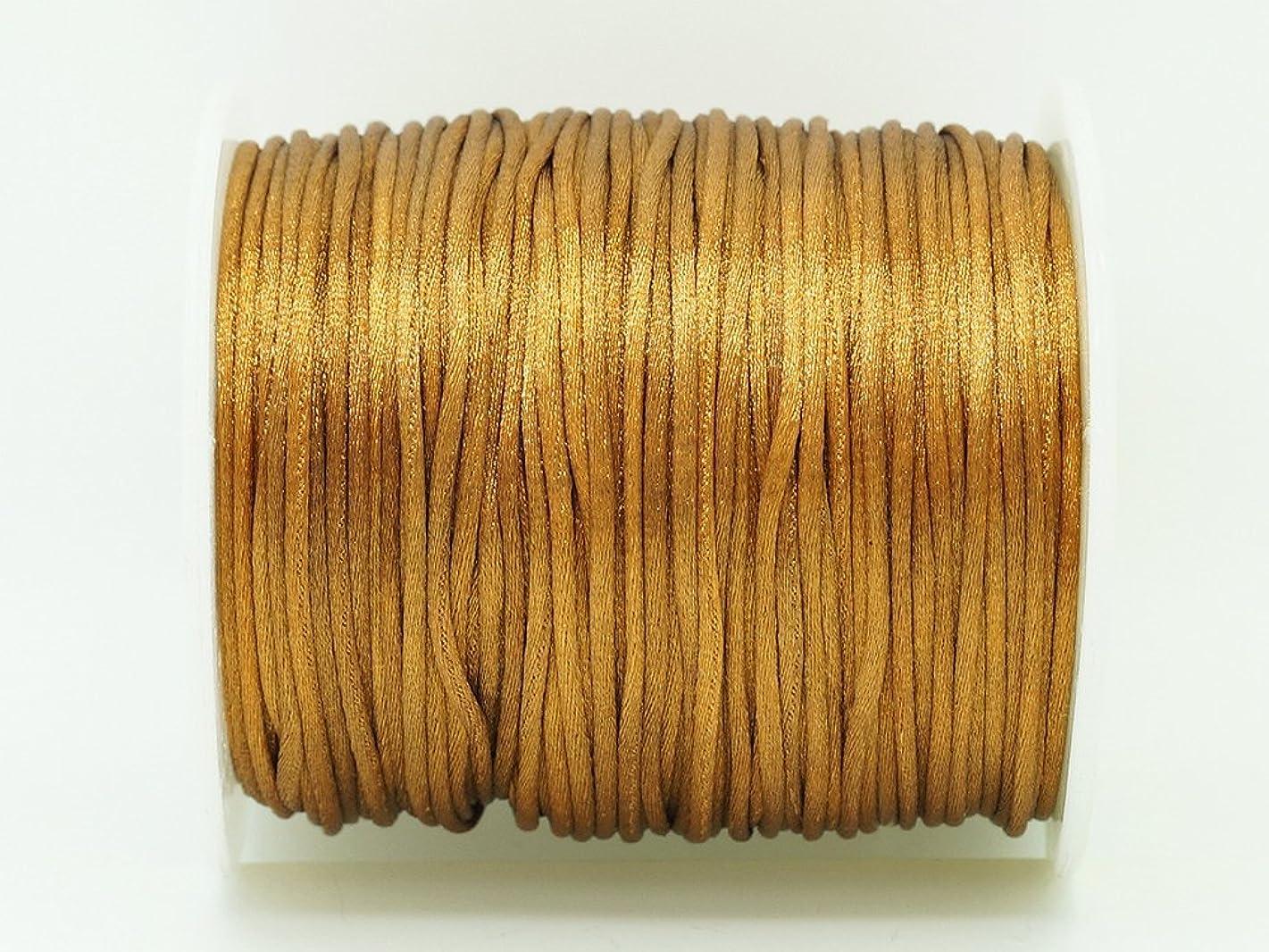 CAMEL BROWN 1mm Bugtail Satin Cord Shamballa Macrame Beading Nylon Kumihimo String (210ft Spool)