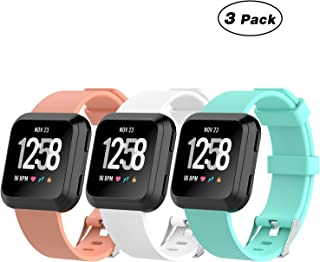 Fitbit Versa Band, ZriEy Silicone Replacement Wristband Adjustable Fitness Sport Watch Bracelet for Fitbit Versa 2018