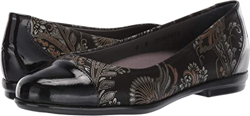 Brocade/Black Patent