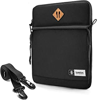 tomtoc Tablet Shoulder Bag for 12.9 Inch New iPad Pro (3 Rd Gen) 2018-2019 with Apple Pencil Smart Keyboard and Logitech Slim Folio Pro Case, Front Pocket for Tablet Accessories