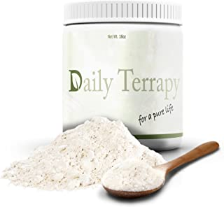 Daily Terrapy Diatomaceous Earth Powder Silica Supplement (16oz.) Natural, Organic Food-Grade Safe Detox | Immune System Booster, Anti-Aging Skin Restoration | Non-GMO