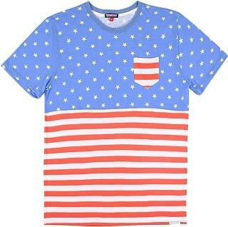 Tipsy Elves Men's American Flag Patriotic T Shirts - USA Tee Shirts for Men Guys