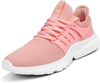 Feetmat Women's Running Shoes Lightweight Non Slip Breathable Mesh Sneakers Sports Athletic Walking Work Shoes Pink Size: 6