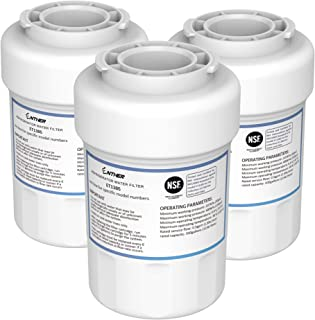 Enther MWF Refrigerator Water Filter Replacement NSF 42 Certified, Compatible With GE SmartWater MWF/MWFA/MWFDS/MWFINT/MWFP/WFC1201/RWF1060, Hotpoint HWF/HWFA, Sears/Kenmore 46-9991/9996/9905, 3 Pack