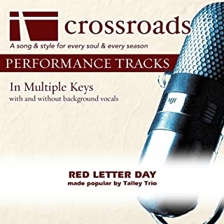 Red Letter Day (Performance Track Low without Background Vocals in Ab)