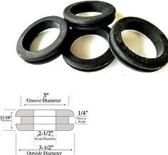 Lot of 4 Heavy Duty Rubber Grommets 2-1/2