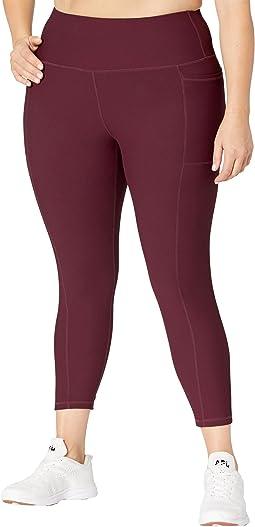 Plus Size Ribbed Texture Leggings