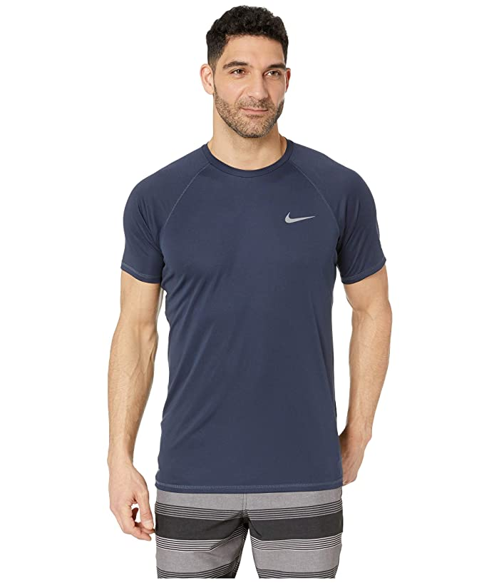 Nike Solid Short Sleeve Hydroguard (Obsidian) Men