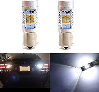 1156 1141 7506 BA15S P21W 1073 LED Bulbs Polarity Free 6000K Super Bright Use for Back Up Reverse,  Daytime Running,  Parking Lights,  Xenon White