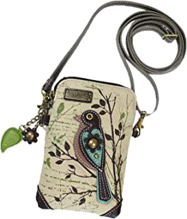 Crossbody Cell Phone Purse-Women Canvas Multicolor Handbag with Adjustable Strap