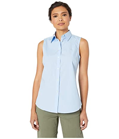 LAUREN Ralph Lauren No-Iron Sleeveless Shirt (Blue) Women