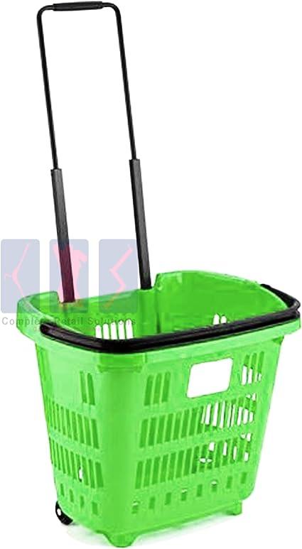 clon Existencia precedente  15 cestas de la compra de supermercados, para bricolaje, cesta de la compra  (verde): Amazon.es: Hogar