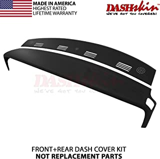 DashSkin 2 Piece Molded Dash Cover Kit Compatible with 02-05 Dodge Ram in Black (USA Made)