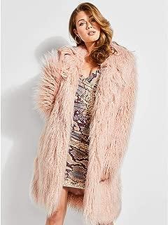 Guess 女士长袖 Serenity 毛皮大衣