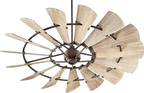 "popular Quorum online International Windmill 72"" Ceiling Fan - Oiled Bronze high quality - 97215-86 online sale"