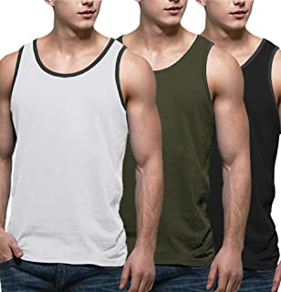 Men's 3 Pack Tank Tops Workout Gym Shirts Muscle Tee Bodybuilding Fitness Sleeveless T Shirts