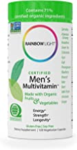 Rainbow Light - Certified Men's Multivitamin™ - Provides Antioxidants & Probiotics, Supports Energy, Liver Health, and Digestion in Men - 120 vCaps