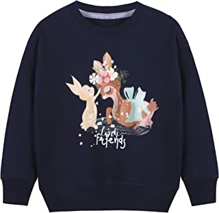 BONNY BILLY Sudadera Niña Manga Larga Camiseta Top Estampado Algodón Otoño Invierno Ropa Niña