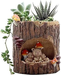 Little Nursery Rhyme Hedgehog Classroom Brown Bear Family Flowerpot(B2)