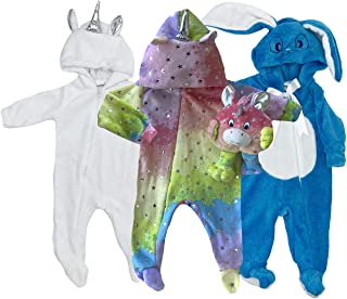 Kisses & Co Pack de 3 Mamelucos Unicornio-Unicornio c/m- Conejo