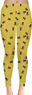 CowCow Womens Bee Butterflies Butterfly Honeycombs Insect Ladybugs Beetles Leggings, XS-5XL