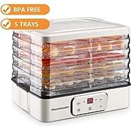 Food Dehydrator, Electric... Food Dehydrator, Electric Digital Food Dehydrator Machine for Jerky, Fruit, Vegetables & Nuts,...