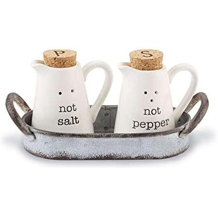 Mud Pie Home Christmas Gnome Salt and Pepper Shaker Set in Crate