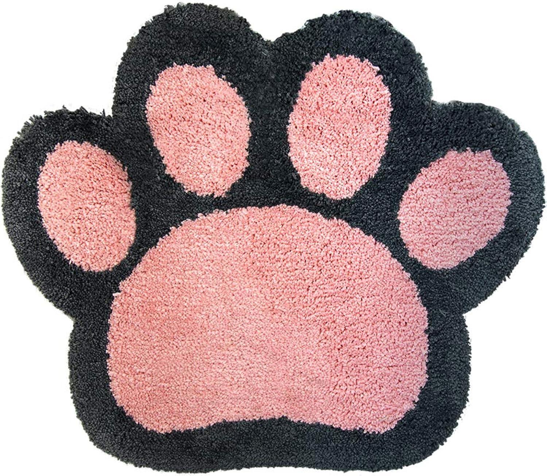 Door mat,Entrance Door mats Cartoon Bedroom Bedside Rug Carpet Bathroom Non Slip Door mat-Pink 65×78CM(26x31inch)