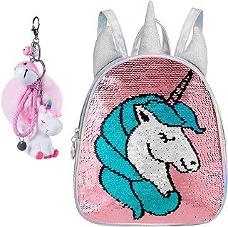 Unicorn Sequin Holographic Backpack Mermaid Reversible Dance Bag for Girl Teen