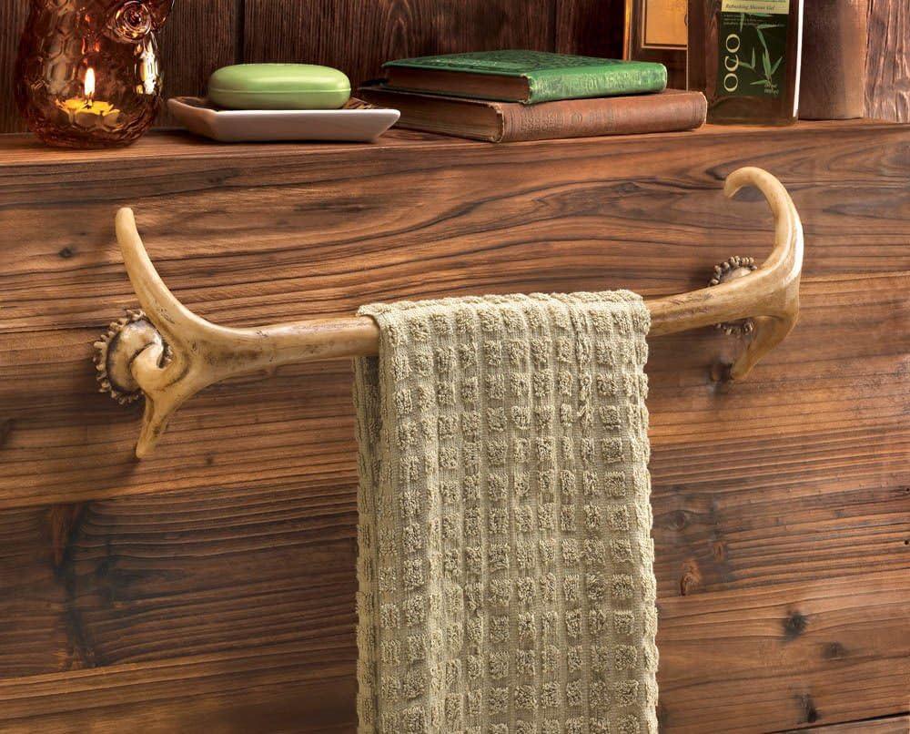 Deer Antler Cheap bargain Hunting Lodge Cabin Decor Super beauty product restock quality top Rustic Towel Bath Bathroom