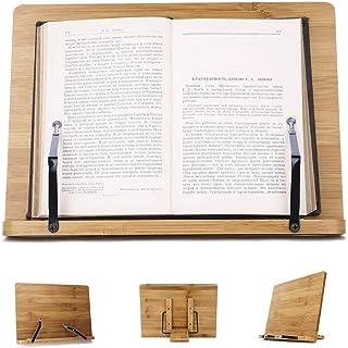 Rétro Porte-Livre Tablette Support Lecture Ipad Livre de cuisine Porte-recettes Casier à livres en Bambou Etagère à livres...