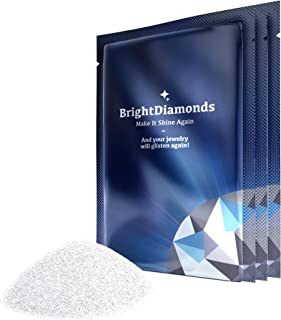 Sponsored Ad - BrightDiamonds Jewelry Cleaner Polish Powder Solution - 3 Pack New Safe Dirt and Grime Cleanser for Diamond...