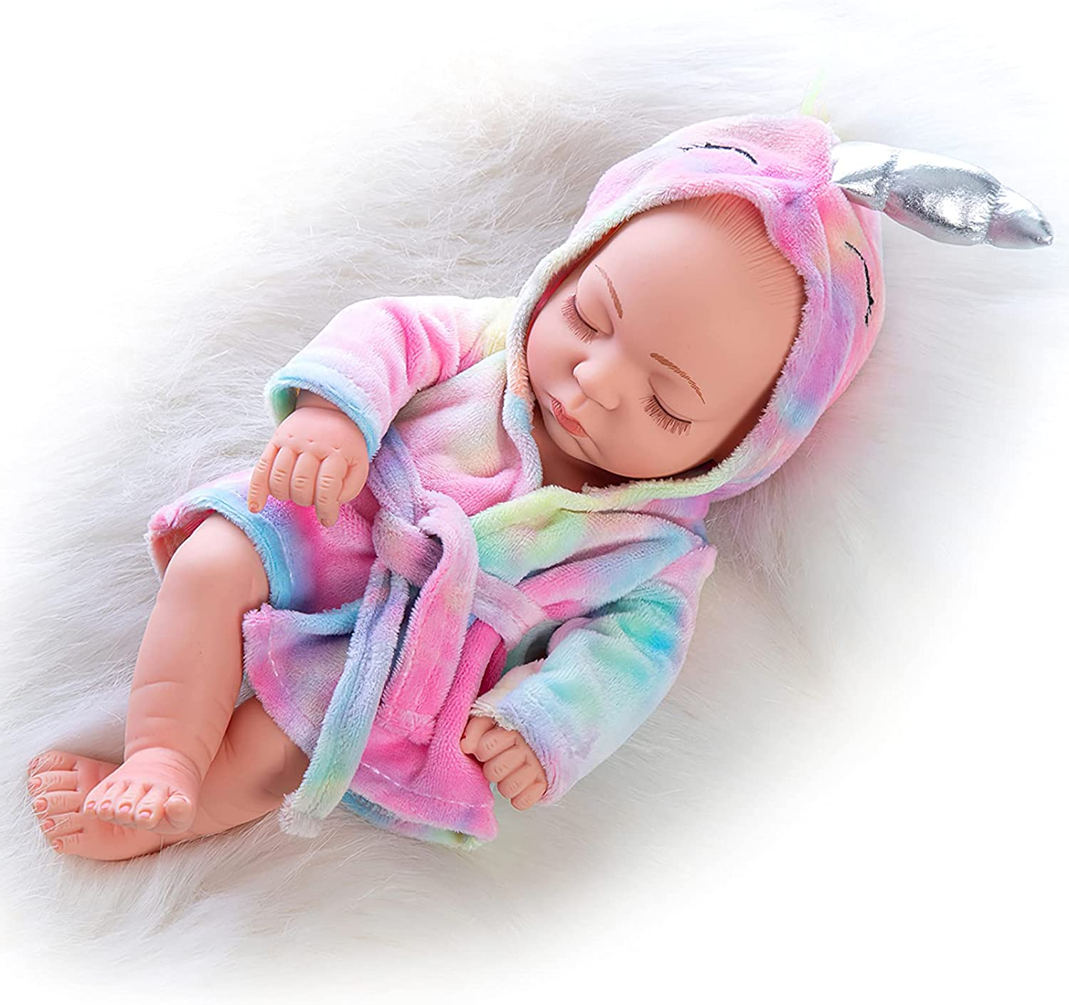 UNICORN ELEMENT 10 Inch Newborn Reborn NEW before selling ☆ Baby and Clothes Set Doll Free shipping New