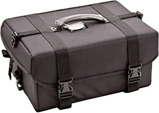 Sunrise Soft-Sided Professional Makeup Case with 4 Extendable Trays, Black Nylon