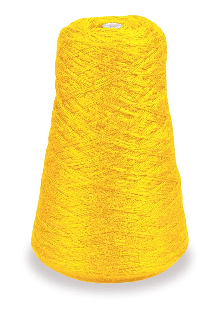 Trait-tex 4-Ply Double Weight Rug Yarn Refill Cone, 8 ounces, Yellow