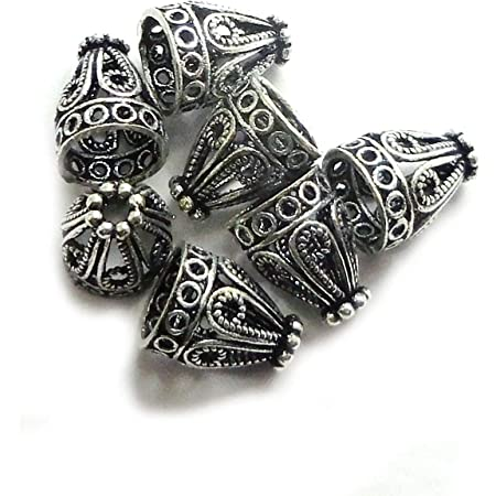10 Pieces Premium Silver Plated Brass Base Cord Tips-13x5mm 340C-I-31J