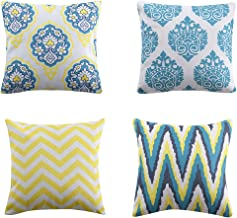 Rama Rose Textile Decor Soft Solid Throw Pillow Cover Cushion case 18 x 18 45cm x 45cm Set of 4 Handmade Cushion Cover for Couch