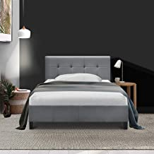 Artiss King Single Bed Frame Fabric - Grey