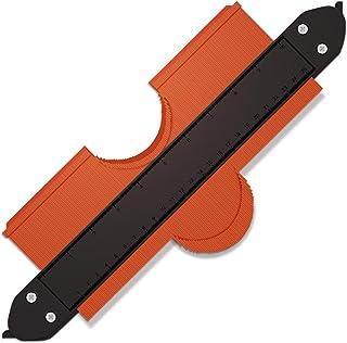 型取りゲージ 凸凹定規 輪郭ゲージ 高精度 曲線定規 DIY定規不規則測定器 測定ゲージ 目盛付き DIY測定器 ストッパー付 25cm 複雑に凸凹のある形が測定