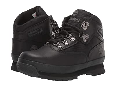 Timberland Kids Euro Hiker (Little Kid) (Black Smooth/Black) Boys Shoes