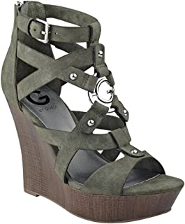 48ff0c3d4f4 Amazon.com  Green - Platforms   Wedges   Sandals  Clothing