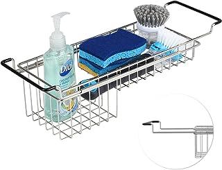 Sink Caddy Sponge Holder Kitchen Sink Organizer Sponge Caddy Farmhouse Sink Accessories Rag Detergent Brush Dishwashing Li...