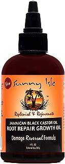 Sunny Isle Jamaican Black Castor Oil Root Repair Growth Oil, Brown, 4 Fluid Ounce