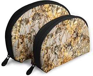 Pouch Zipper Toiletry Organizer Travel Makeup Clutch Bag Granite, Marble, And Quartz Portable Bags Clutch Pouch Storage Bags